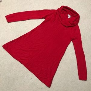 Motherhood Maternity Red Cowl Neck Sweater